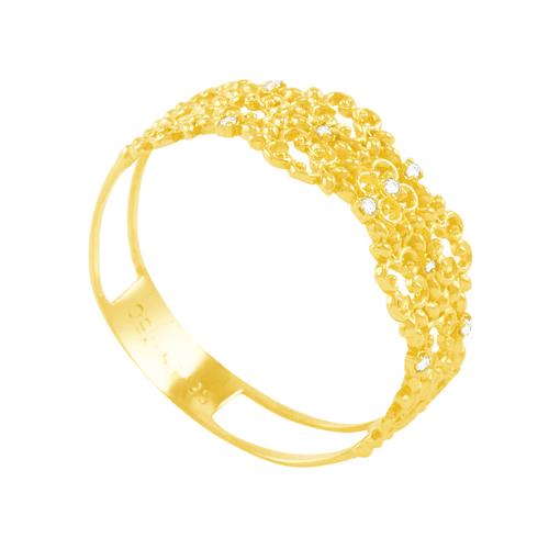 Anel em Ouro 18K Linha Folk com Diamantes - AU5101