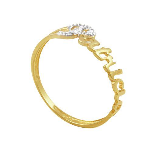 Anel em Ouro 18k Patrícia com Diamantes - AU3189