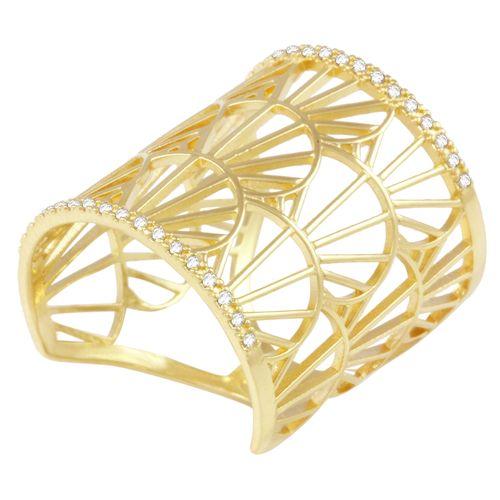 Anel em Ouro 18K Raios de Sol com Diamantes - AU1119