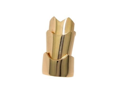 Anel Gladiadora Articulado Dourada By Cris Arcangeli Aro 14