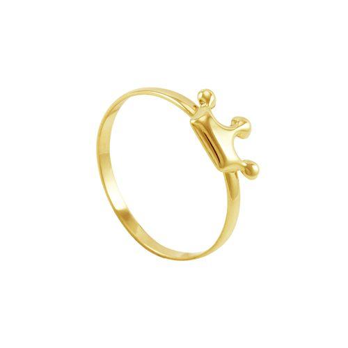 Anel Infantil em Ouro 18K Coroa - AU3366