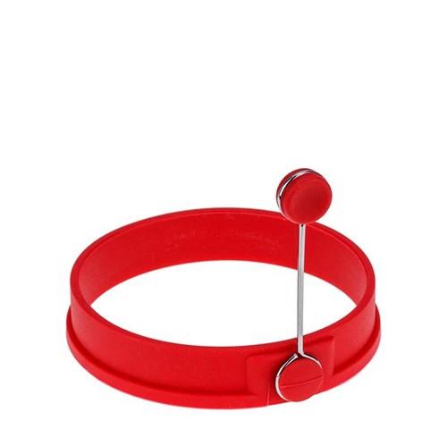 Anel Modelador para Ovo Weck Silicone Vermelho 10CM - 32505