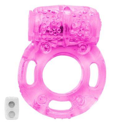 Anel Vibrador Peniano Borboleta Rosa Gtoys Ss586 Anel Vibrador com Pérola Roxo