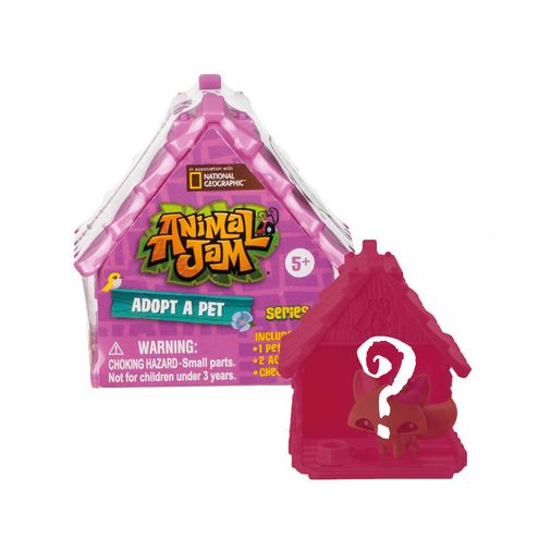 Animal Jam - Casinha Surpresa Adote um Pet - Fun