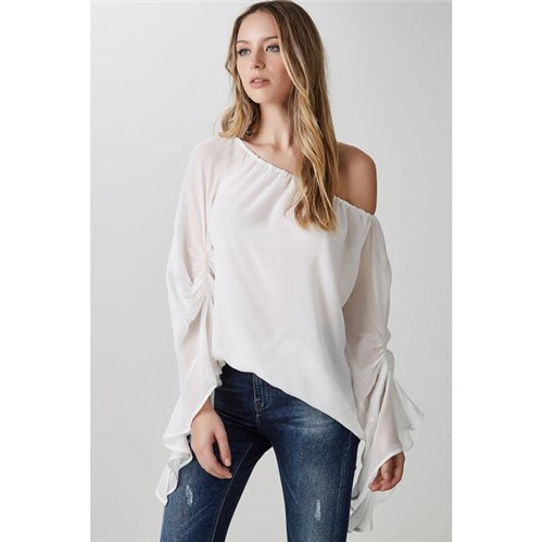 Animale | Blusa Babados Caracol Off White - 42
