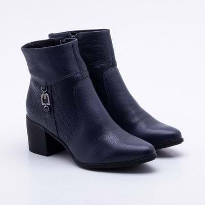 Ankle Boot Bottero Couro Marinho 35