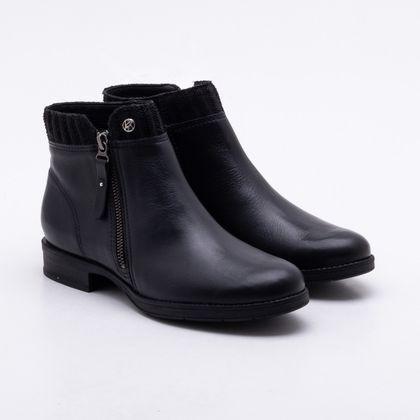 Ankle Boot Bottero Couro Preta 34