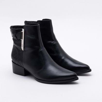 Ankle Boot Bottero Couro Preta 38