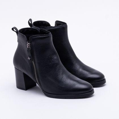 Ankle Boot Cravo & Canela Couro Preta 37