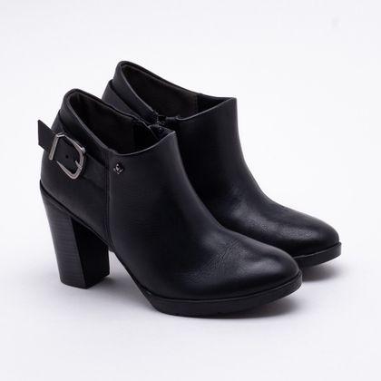 Ankle Boot Cravo & Canela Couro Preto 34