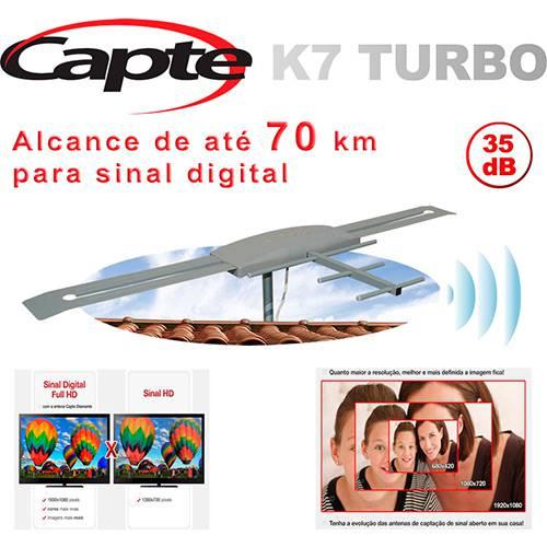 Antena Capte K7 Turbo Digital Pdi