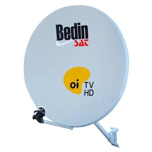 Antena de Chapa 60cm - Bedin Sat - Cinza