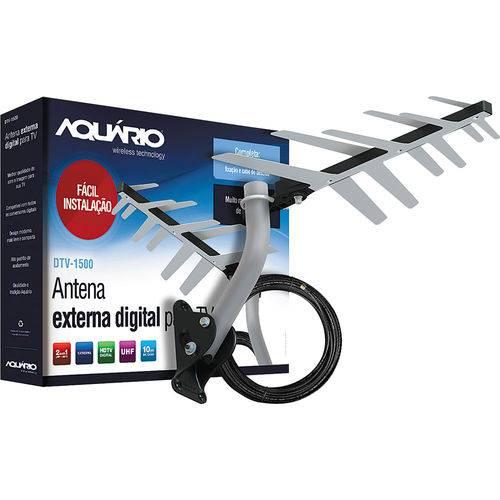 Antena Digital Externa Aquário Dtv-1500
