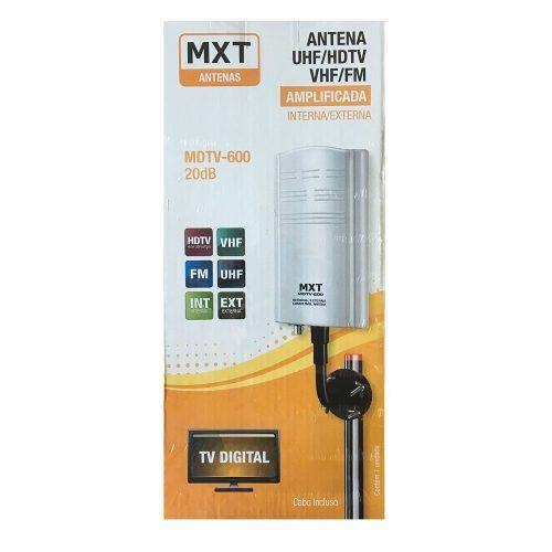 Antena Digital Interna Externa Amplificada 20db Mdtv-600 Mxt