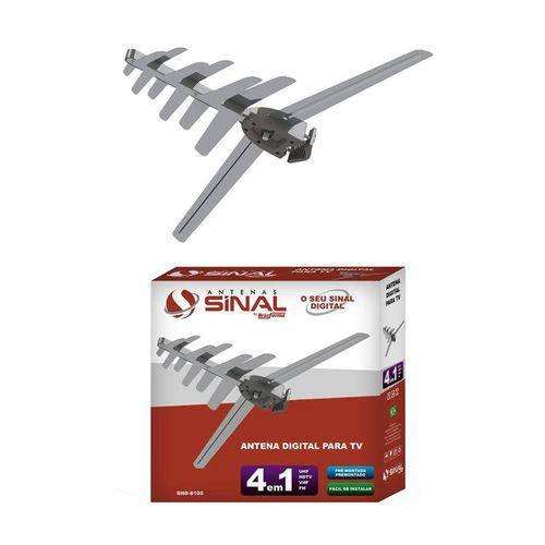 Antena Externa Digital 4 X 1hdtv Brasforma