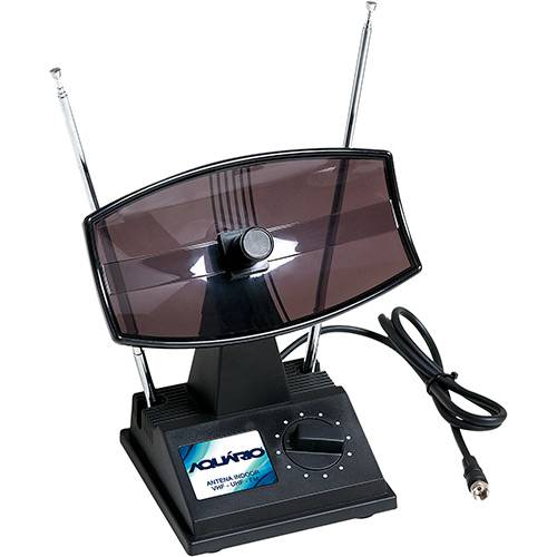 Antena Interna Aquário TV-350 - VHF e UHF