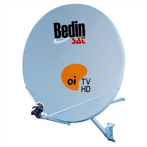 Antena KU de Chapa 75cm - Bedin Sat - Cinza