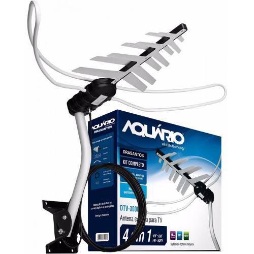 Antena Tv Digital Externa Dtv-3000 Aquario