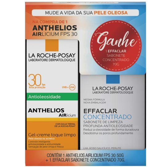 Anthelios Airlicium La Roche-Posay Fps30 50g Grátis Effaclar Sabonete Facial Concentrado La Roche-Posay 70g