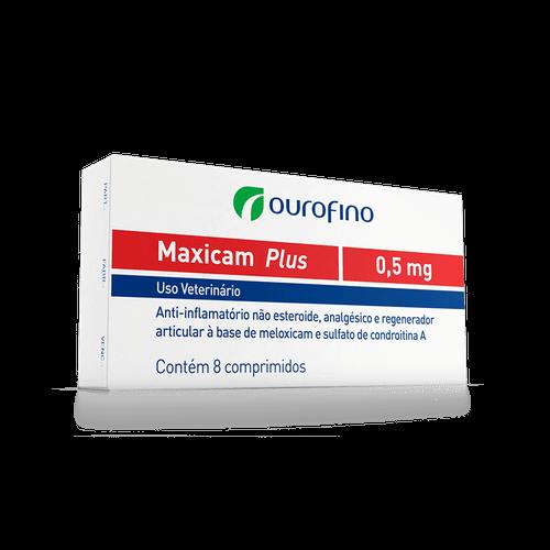 Anti-inflamatório Ourofino Maxicam Plus para Cães e Gatos - 8 Comprimidos 0,5mg