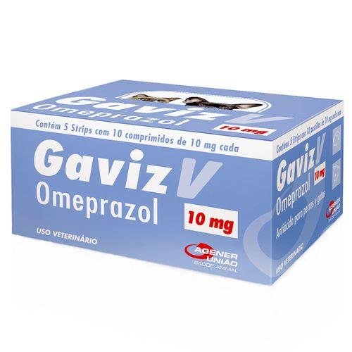 Antiácido Agener União Gaviz V Omeprazol para Cães e Gatos - 10 Comprimidos 10mg