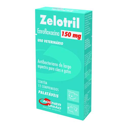Antibacteriano Zelotril Agener Pet 12 Comprimidos