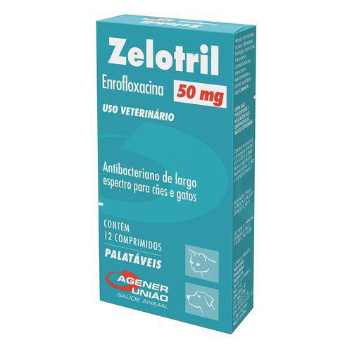 Antibacteriano Zelotril Agener União 50mg 12 Comprimidos