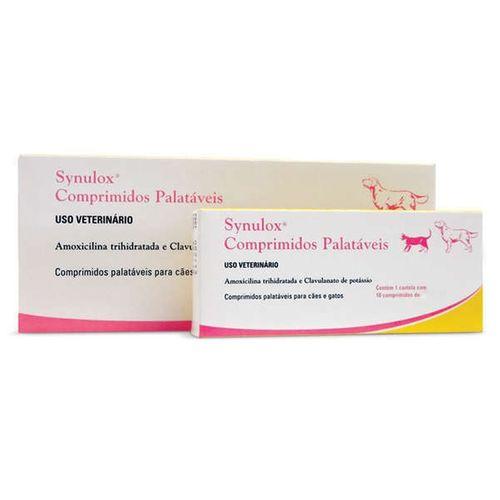 Antibiótico Zoetis Synulox para Cães e Gatos - 10 Comprimidos 50mg