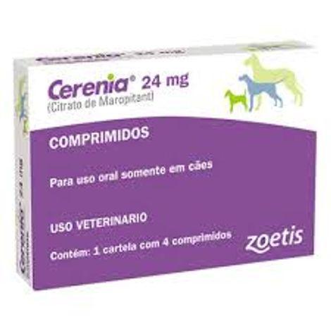 Antiemético Cerênia 4 Comprimidos 24 Mg - Zoetis
