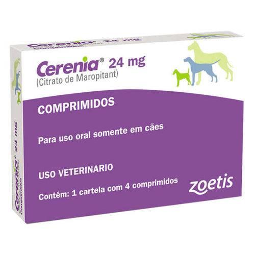 Antiemético Zoetis Cerenia 24mg com 4 Comprimidos