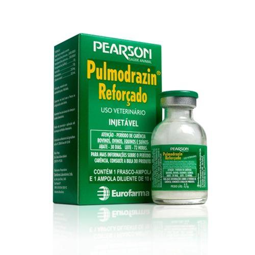 Antimicrobiano Injetável Eurofarma Pulmodrazin Reforçado para Bovinos, Equinos, Ovinos e Suínos 10ml