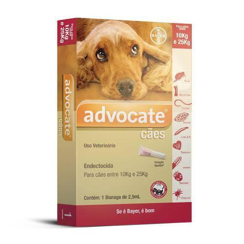 Antipulgas Advocate Bayer Cães 2,5 Ml