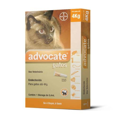 Antipulgas Advocate para Gatos Até 4kg com 1 Bisnaga de 0,4ml