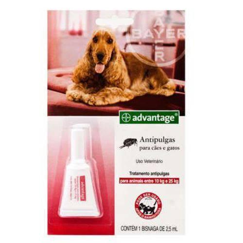 Antipulgas Bayer Advantage para Cães e Gatos 2,5 Ml - 10 a 25 Kg