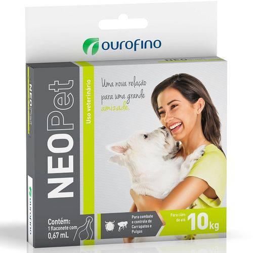 Antipulgas e Carrapatos Neopet Ourofino 0,67ml Cães Até 10kg