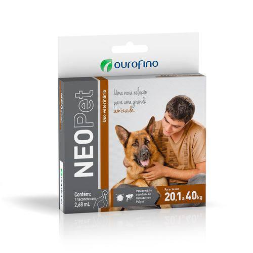 Antipulgas e Carrapatos Neopet Ourofino para CÃES de 20 a 40 Kg.
