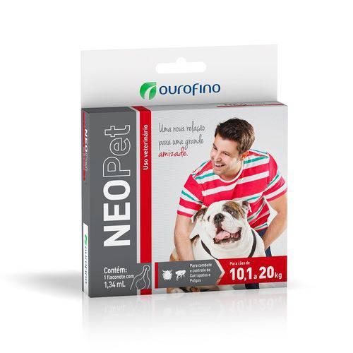 Antipulgas e Carrapatos Neopet para Cães de 10,1 a 20kg