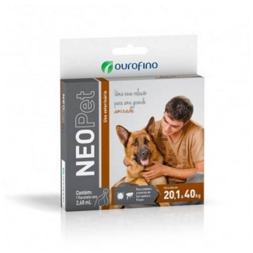 Antipulgas e Carrapatos Ouro Fino Neopet para Cães de 20,1 a 40kg