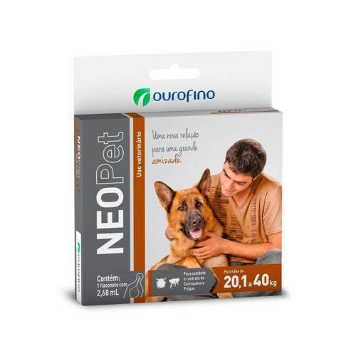 Antipulgas e Carrapatos Ouro Fino Neopet para Cães de 20,1 Até 40 Kg