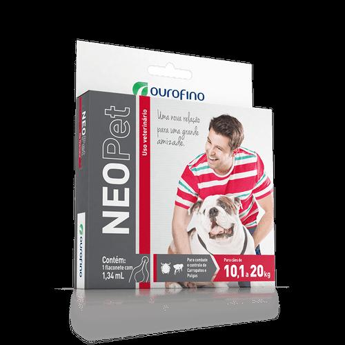 Antipulgas e Carrapatos Ourofino Neopet para Cães de 10,1 a 20kg