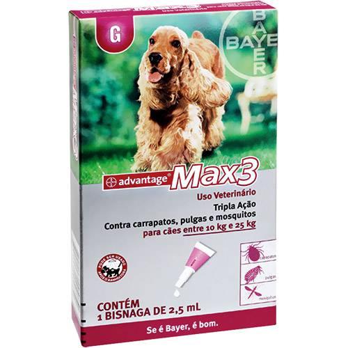 Max3 Advantage P/ Cães Entre 10 e 25kg - 2,5ml