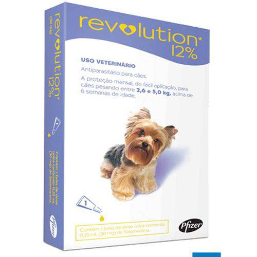Anti Pulgas e Carrapatos Zoetis Revolution 6 para Gatos de 2,5 a 7,5 Kg - 1 Ampola de 0,75 Ml