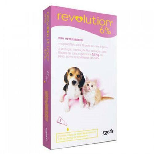 Antipulgas Revolution Cães e Gatos Até 2,5kg 1 Pipeta