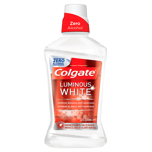 Antisséptico Bucal Colgate Luminous White 500ml