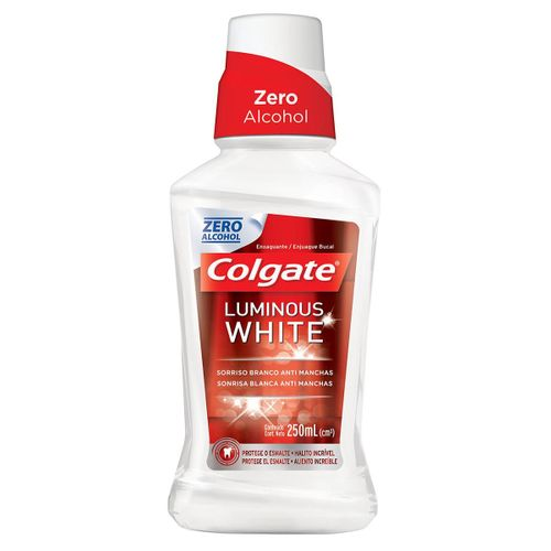 Antisséptico Bucal Colgate Luminous White 250ml