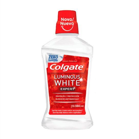 Antisseptico Bucal Colgate Luminous White Expert 500ml