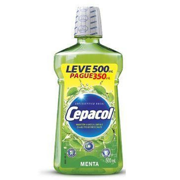 Antisséptico Bucal Menta Cepacol 500ml