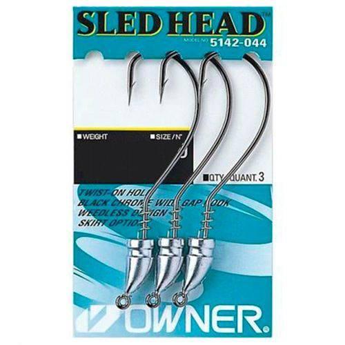 Anzol Owner Sled Head Nº2/0 3,54g 4un