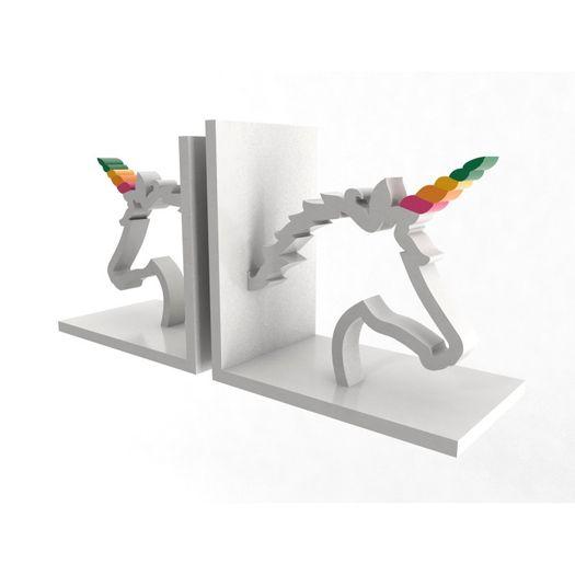 Aparador de Livro Unicornio Par 32x15x10cm 10-160-Al18 Geton