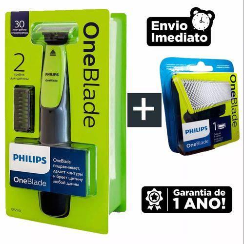 Aparador Philips One Blade QP2510/10 + Refil Philips One Blade QP210/50